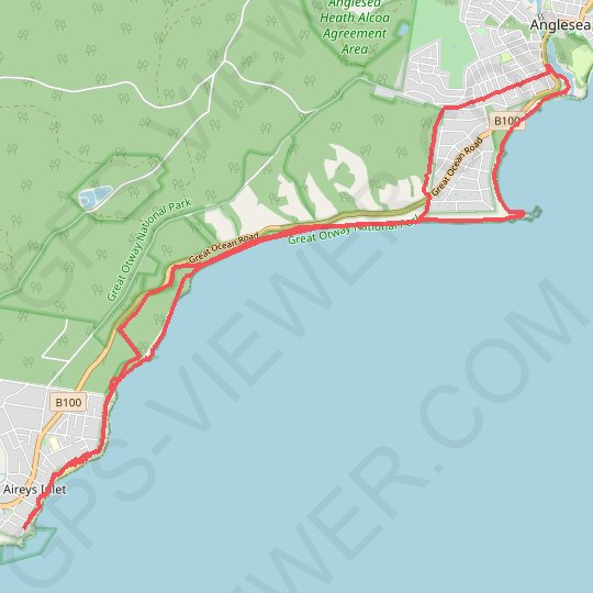 Anglesea - Aireys Inlet GPS track, route, trail