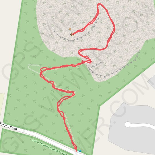 Mount Ngungun GPS track, route, trail