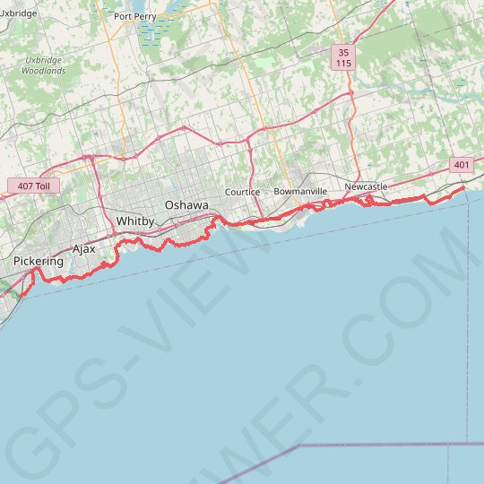Lake Ontario Waterfront Trail GPS track, route, trail