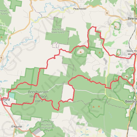 Beerburrum - Woodford - Glass House Moutains GPS track, route, trail